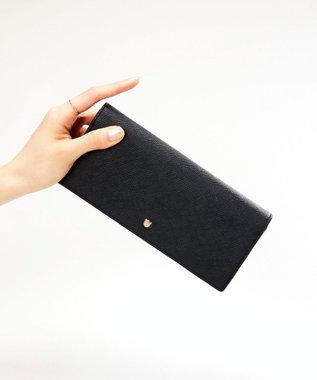 TOPKAPI 角シボ型押し・かぶせのフタ長財布 CLASSICO クラシコ ブラック
