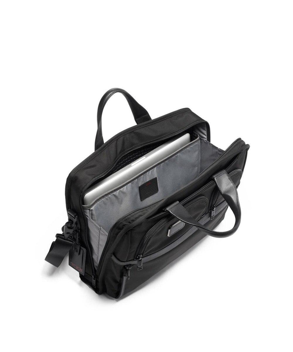 TUMI メンズ  TUMI ALPHA3 コンパクト・ラージ・スクリーン・ラップトップ・ブ ブラック