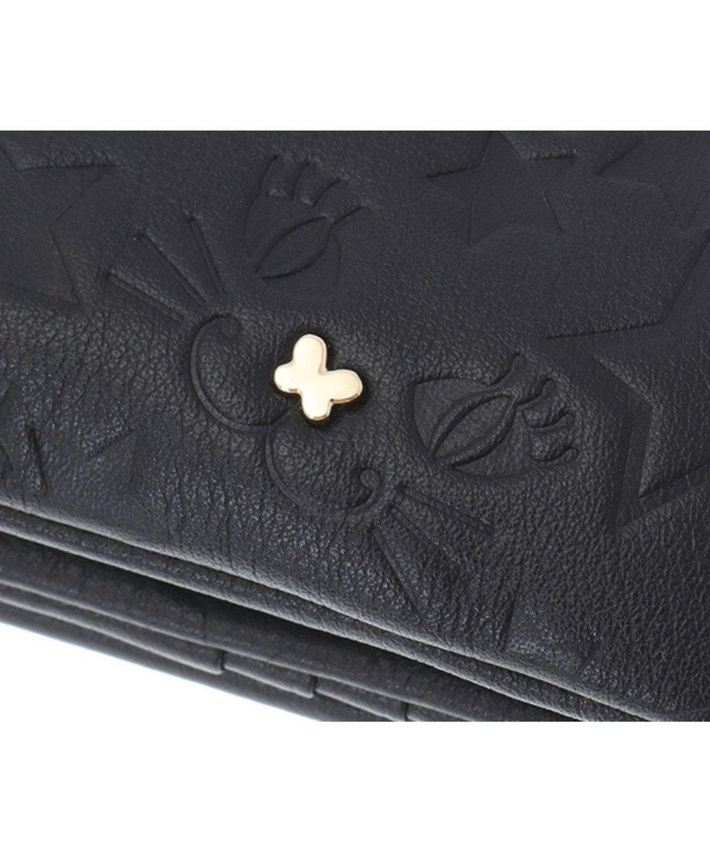 ANNA SUI ANNA SUI アナ スイ プレイングキャット 外口金二つ折り財布 ブラック