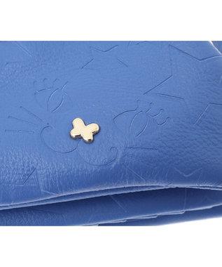 ANNA SUI ANNA SUI アナ スイ プレイングキャット 外口金二つ折り財布 ブルー
