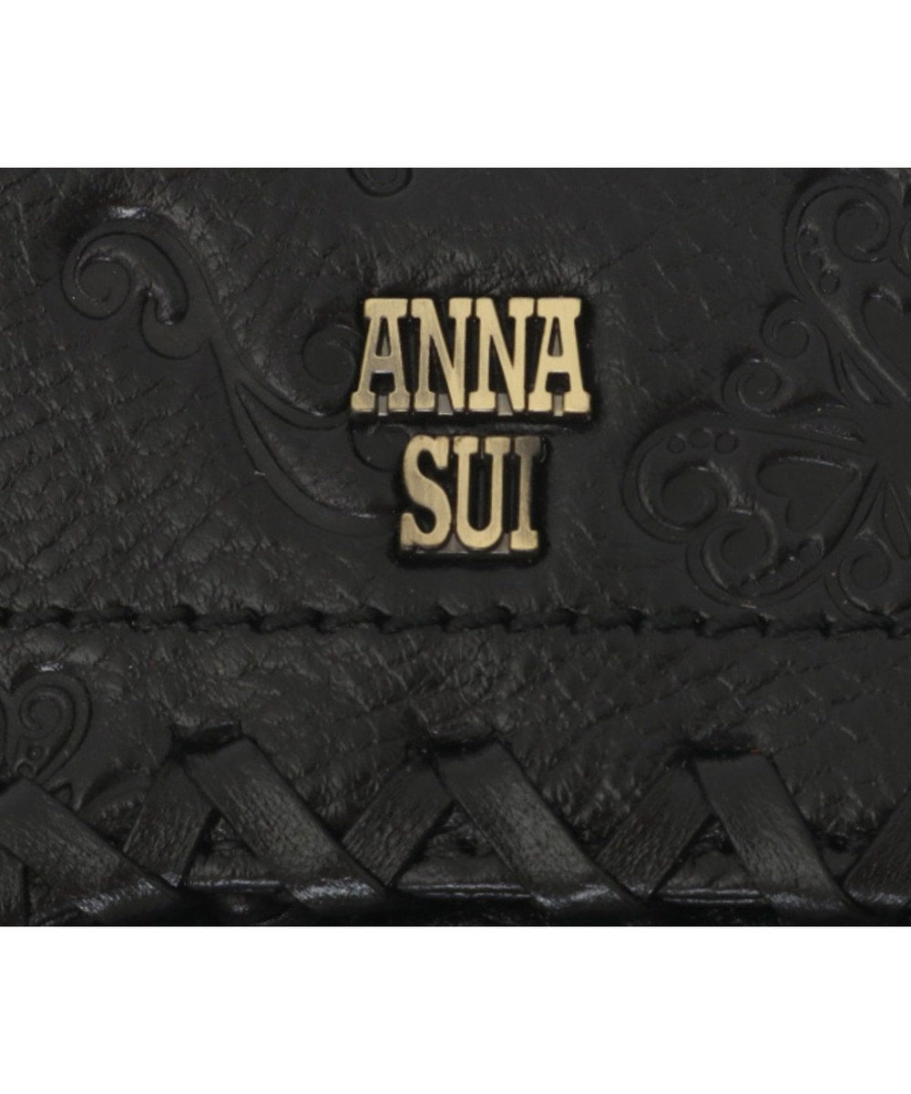 ANNA SUI ANNA SUI アナ スイ ダリア 外口金二つ折り財布 ブラック