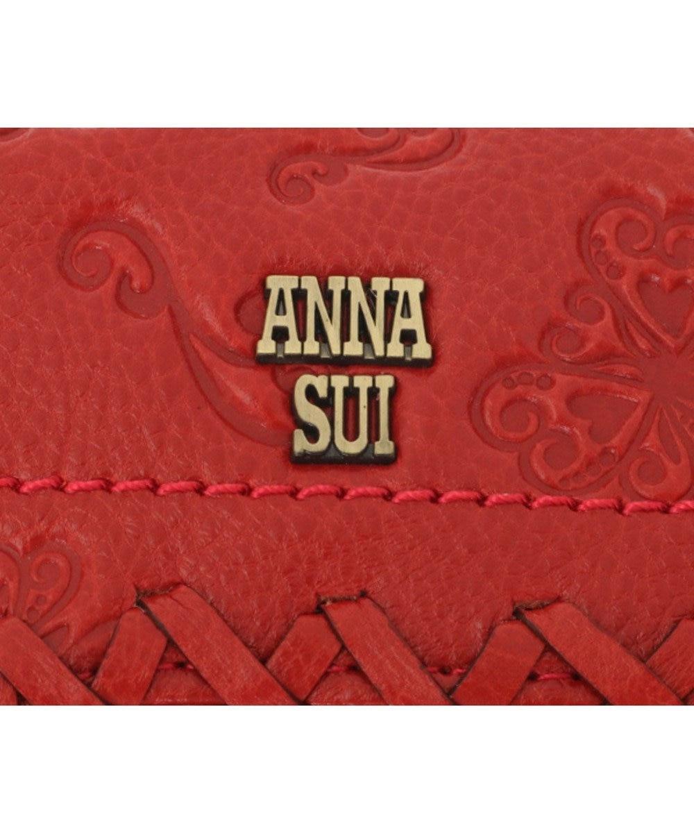 ANNA SUI ANNA SUI アナ スイ ダリア 外口金二つ折り財布 レッド