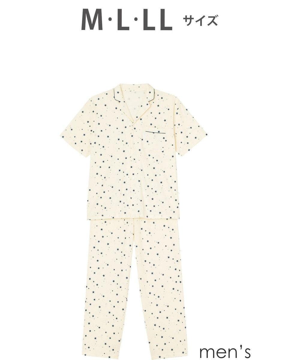 Wing 【メンズパジャマ】綿100% 星柄 ウイング/ワコール EG4906 クリーム