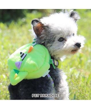PET PARADISE なりきりペッツ リュック付きハーネス 恐竜 S 黄緑