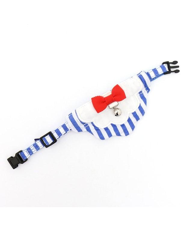 PET PARADISE ネコネスト 猫用首輪M 2WAYストライプ柄