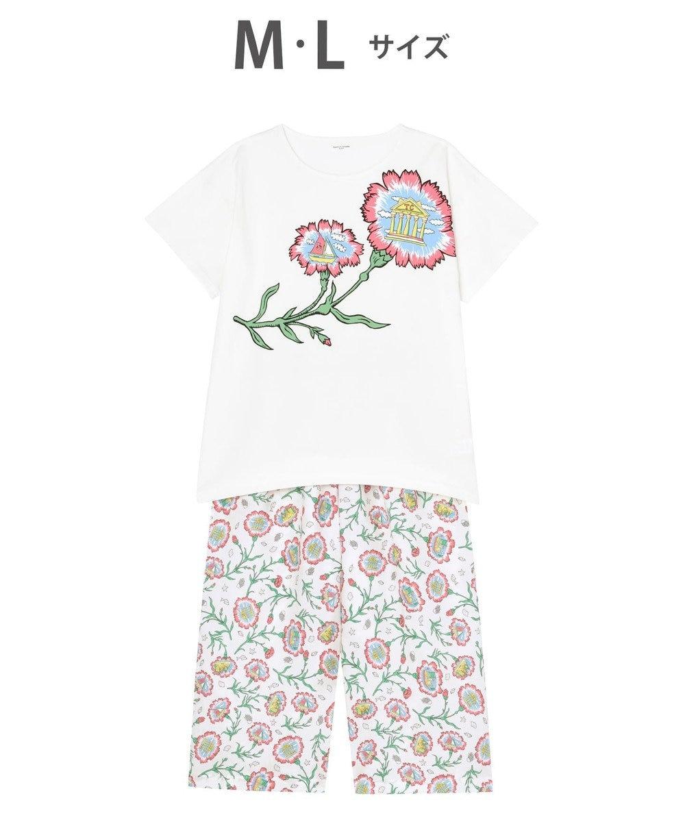 tsumori chisato SLEEP カーネーション 5分袖8分丈パンツ パジャマ /ワコール UDP353 アイボリー