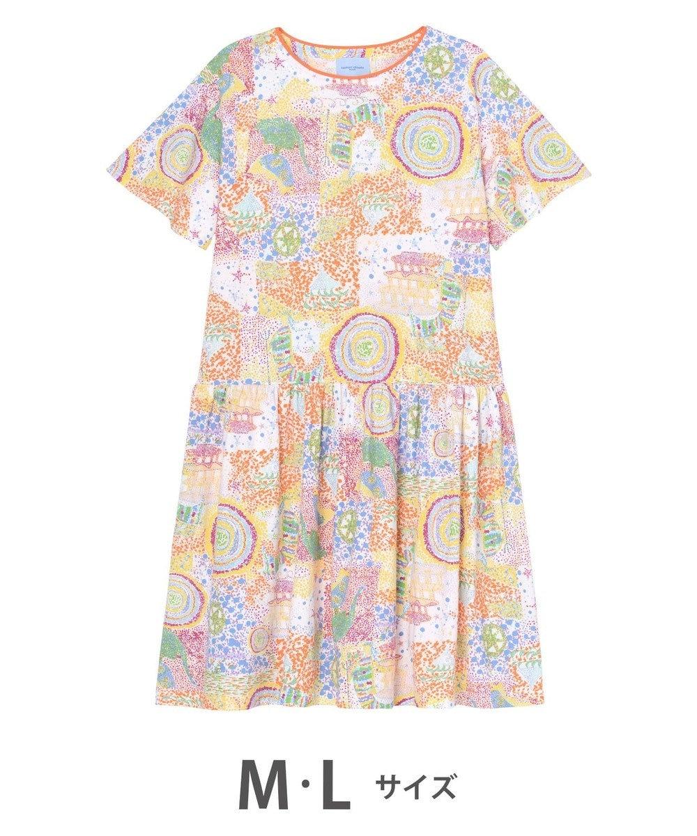 tsumori chisato SLEEP ワンピース  5分袖 綿100% パジャマ /ワコール オレンジ