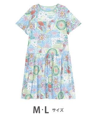 tsumori chisato SLEEP ワンピース  5分袖 綿100% パジャマ /ワコール ブルー