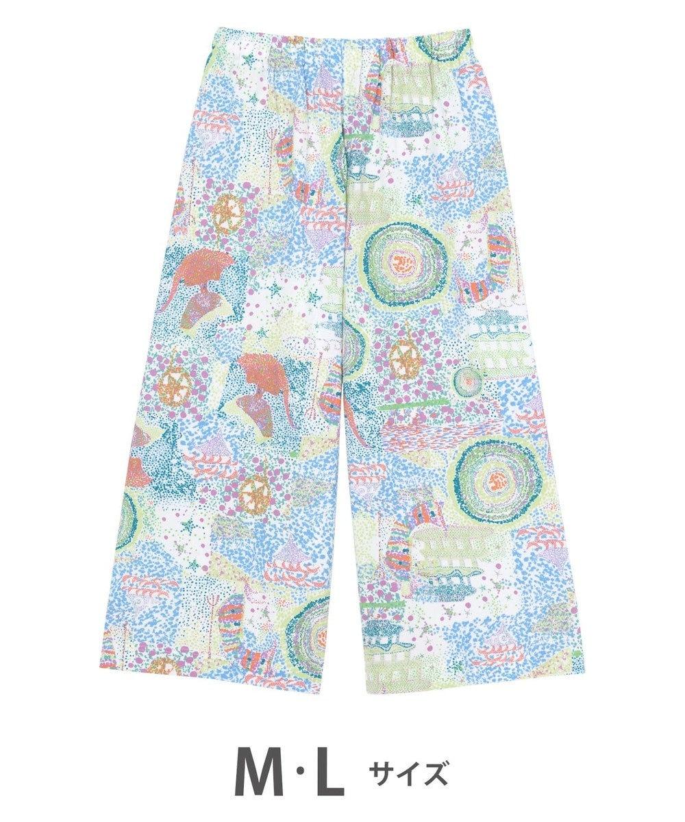 tsumori chisato SLEEP ボトム  8分丈 綿100% パジャマ/ワコール ULP365 ブルー
