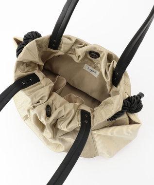 SAC ブラックロープがポイントのふんわりトート/SAC unit/カーラー ベージュ