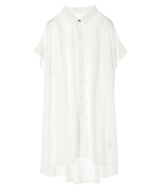 earth music&ecology バックギャザーチュニック Off White