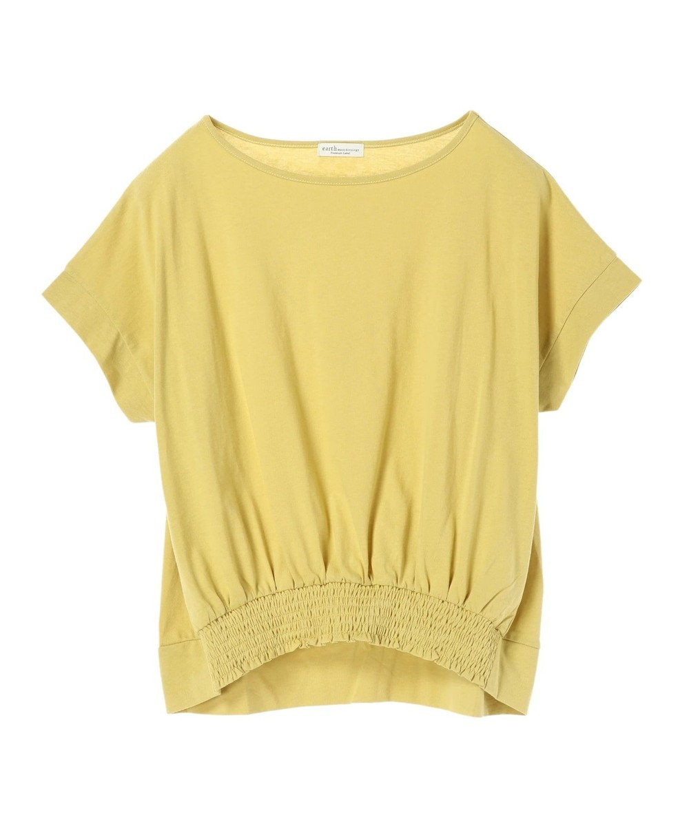 earth music&ecology かわいい人デコカットソー Light Yellow