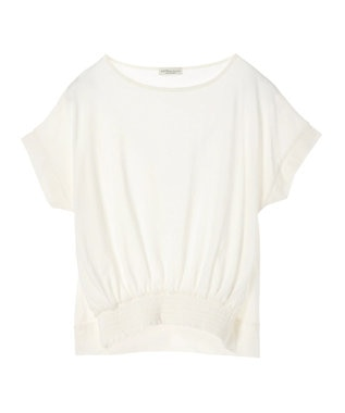 earth music&ecology かわいい人デコカットソー Off White