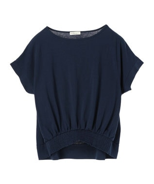 earth music&ecology かわいい人デコカットソー Navy