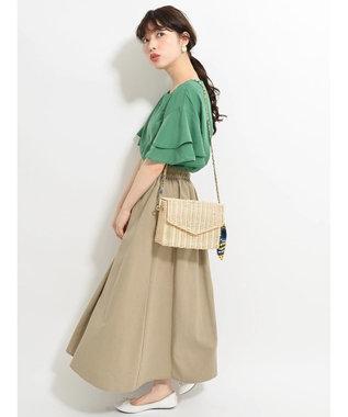 Green Parks ・フロントアシメタックフレアスカート Off White
