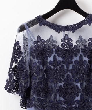 GRACE CONTINENTAL コード刺繍サロペット ブルー