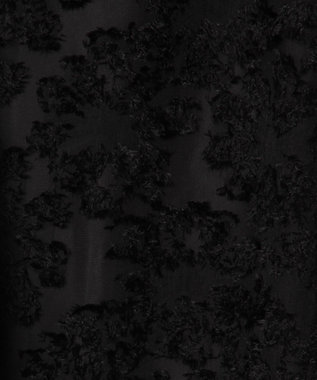 GRACE CONTINENTAL シフォンジャガードフレアスカート ブラック