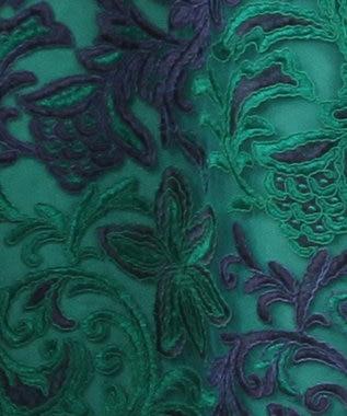 GRACE CONTINENTAL チュール刺繍フレアワンピース グリーン