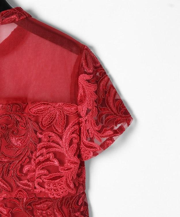 GRACE CONTINENTAL チュール刺繍フレアワンピース