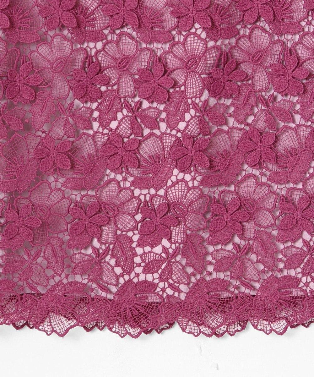 GRACE CONTINENTAL フラワーレースタイトワンピース ピンク