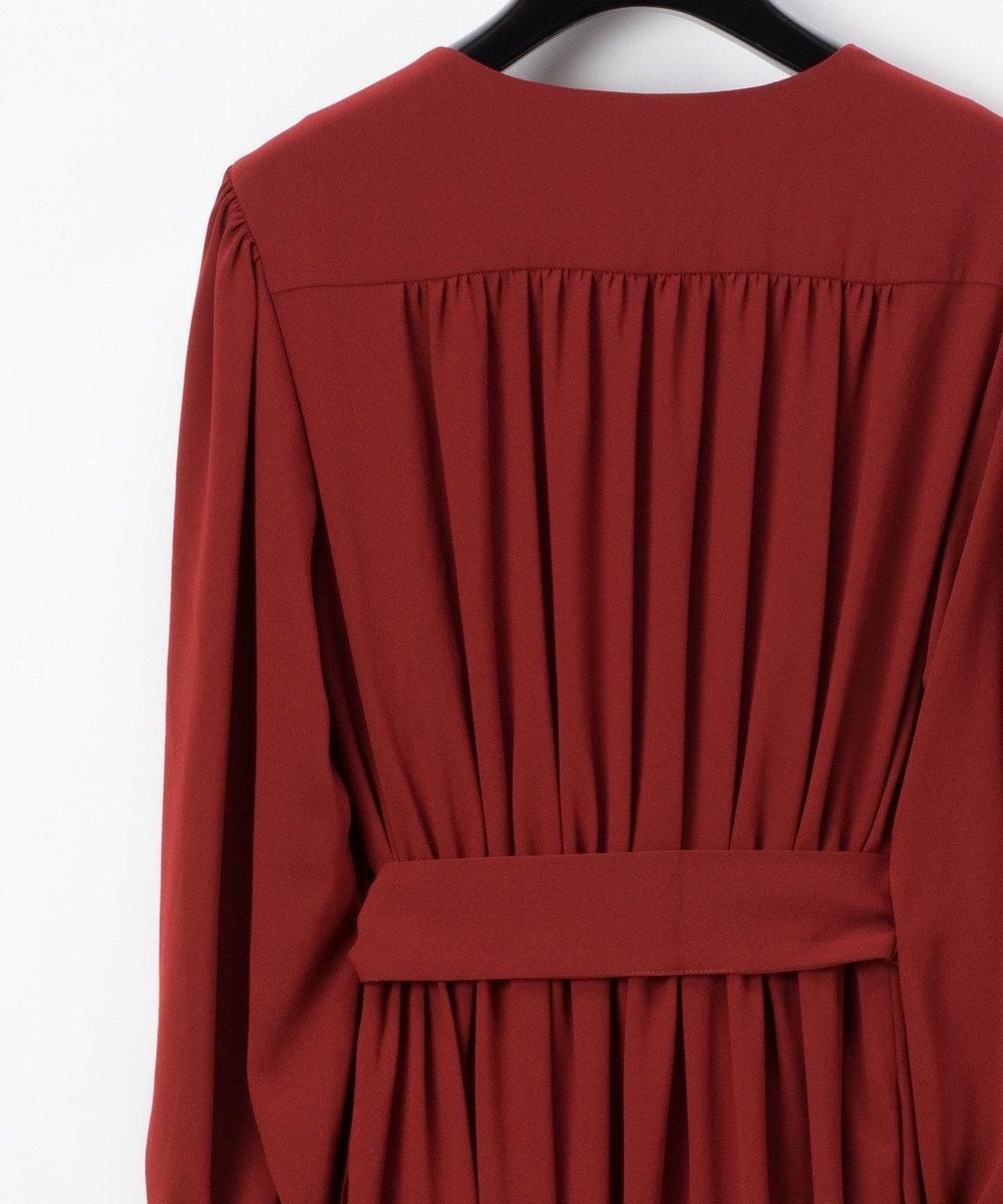 GRACE CONTINENTAL トリアセドレープドレス ブラウン