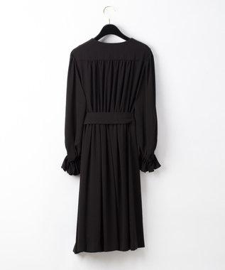 GRACE CONTINENTAL トリアセドレープドレス ブラック