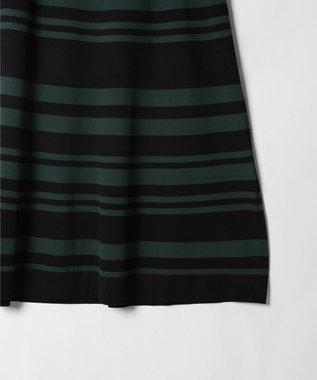 GRACE CONTINENTAL ボーダーフレアニットスカート ブラック