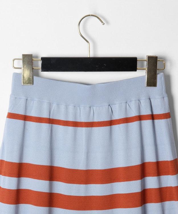 GRACE CONTINENTAL ボーダーフレアニットスカート