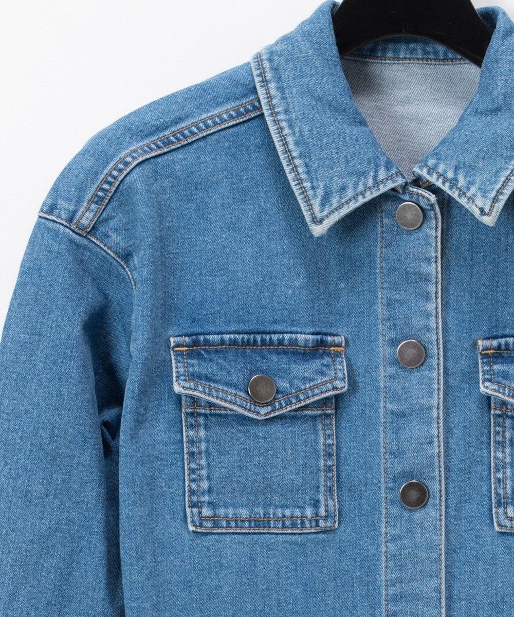 GRACE CONTINENTAL デニムロングシャツ サックス