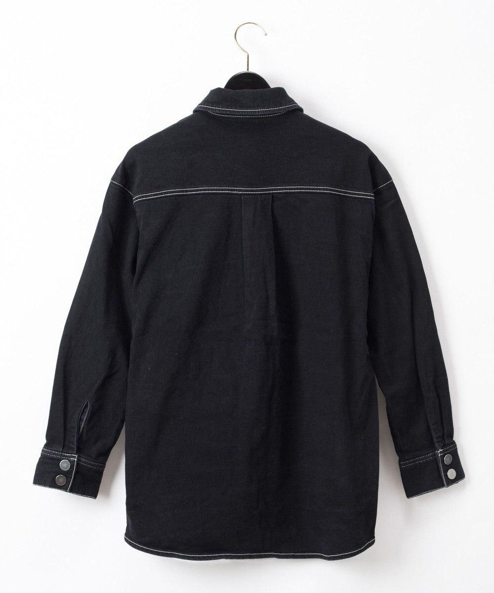 GRACE CONTINENTAL デニムロングシャツ ブラック