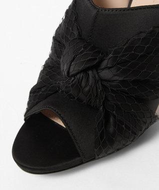 GRACE CONTINENTAL サテンチュールサンダル ブラック