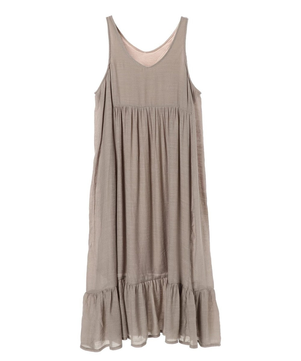 Green Parks ノースリーブティアードワンピース Gray Beige