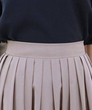 Tiaclasse 【洗える】体型カバーも叶う、マルチカラー切替スカート グレージュ