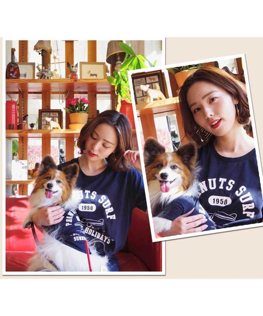 PET PARADISE 愛犬とシミラールック!スヌーピー サーフィンT 紺 ユニセックス 紺(ネイビー・インディゴ)