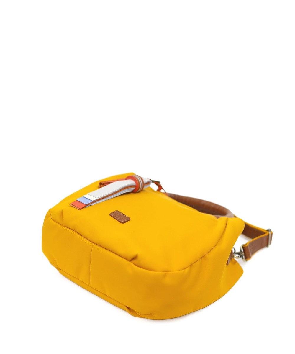 IBIZA ペルフーメ ナイロン/牛革 2WAYハンドバッグ(M) 黄色