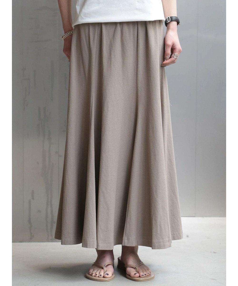 koe 梨地天竺マーメイドスカート Gray