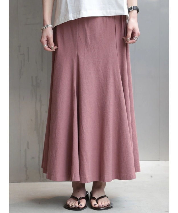 koe 梨地天竺マーメイドスカート Pink Beige