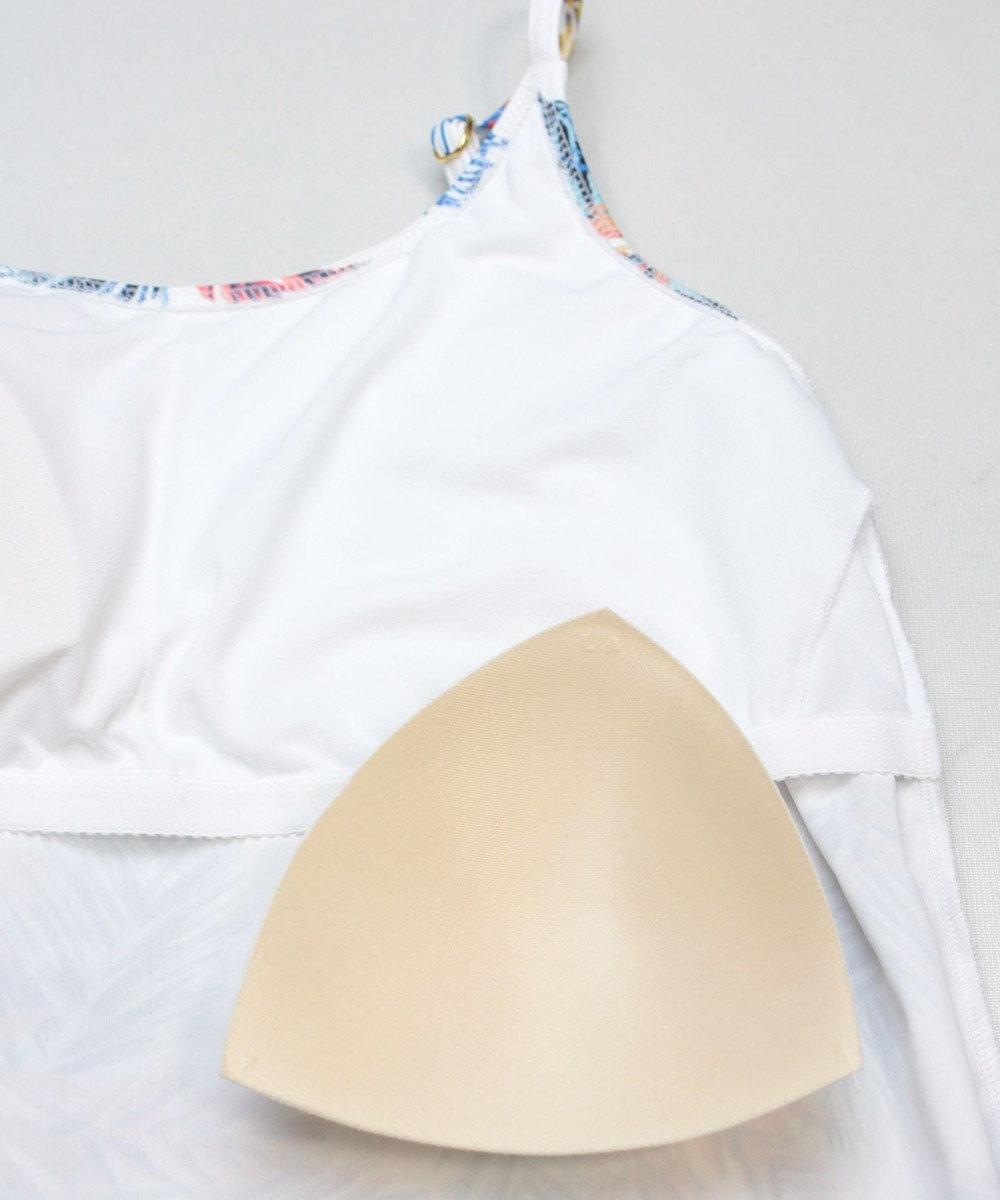 San-ai Resort(三愛水着楽園) PaintFlowerドレス4点セット【Coral veil】 ホワイト