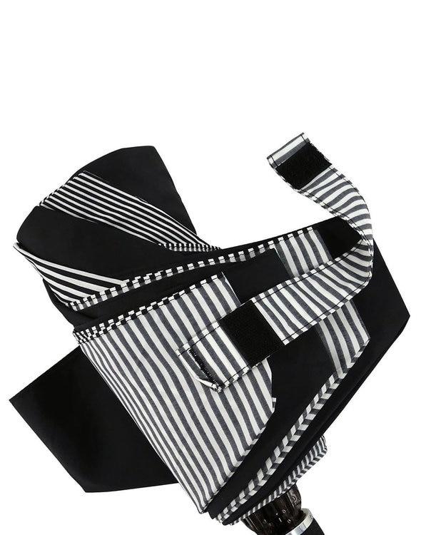 +RING 【プラスリング】数量限定 UNISEX 折傘55cm BLK-STP T734