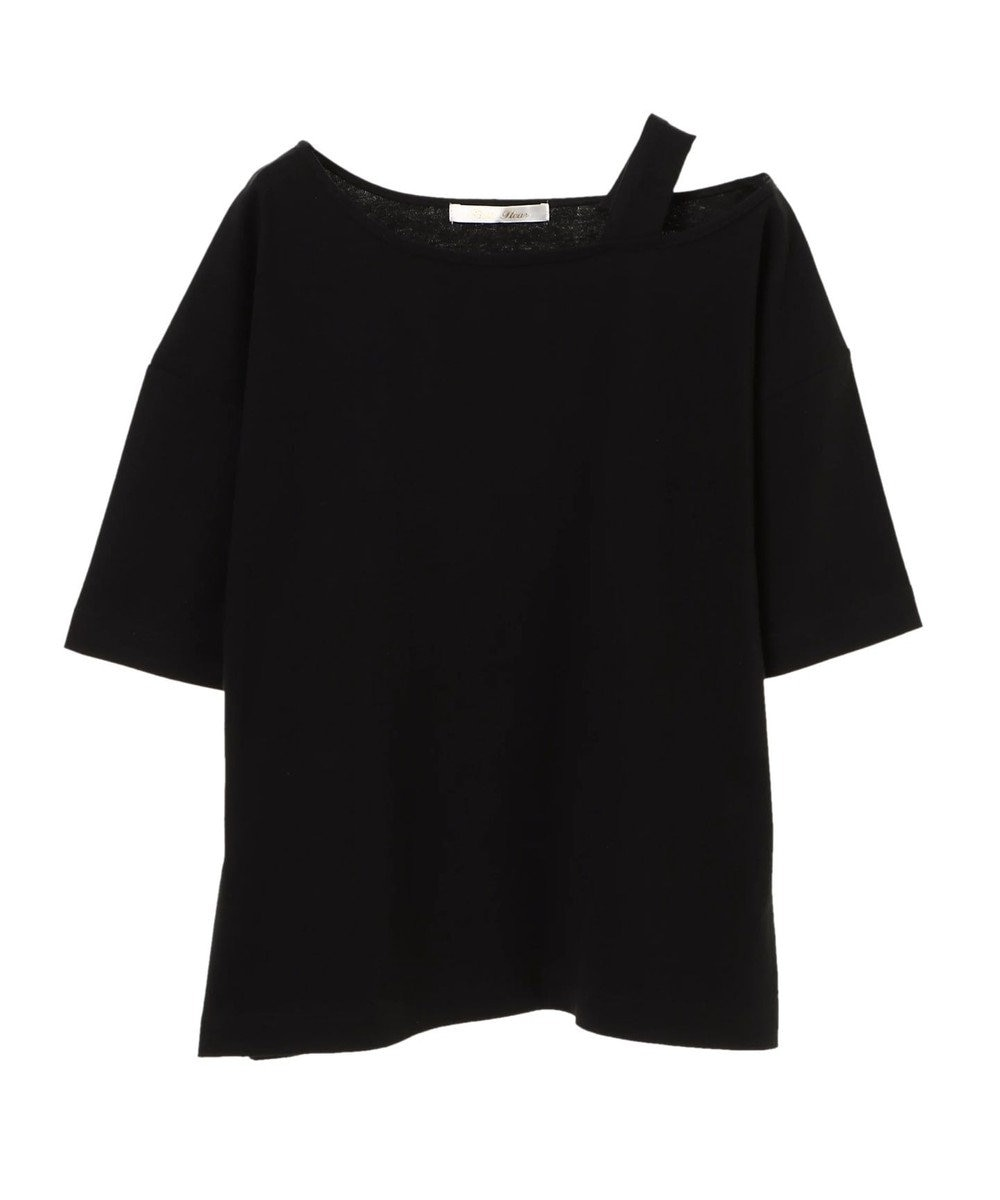 Green Parks ・PetitFleur ワンショルダーストラップTシャツ Black