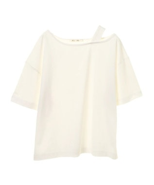 Green Parks ・PetitFleur ワンショルダーストラップTシャツ Off White