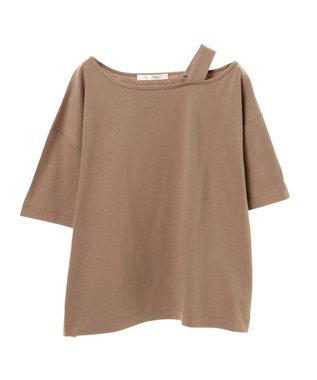 Green Parks ・PetitFleur ワンショルダーストラップTシャツ Beige