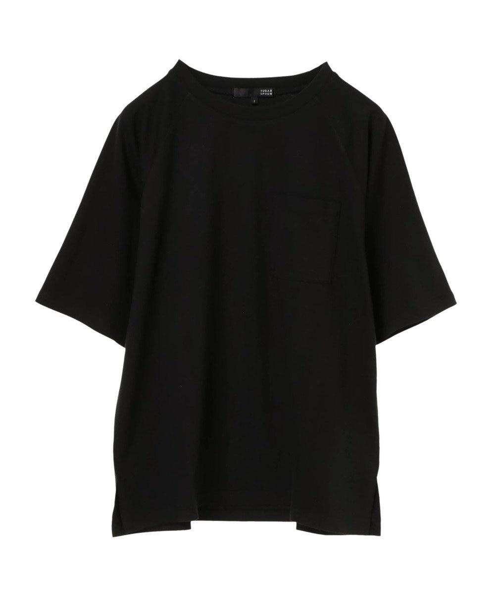 Green Parks ・ポケット付5分袖ワイドラグランTシャツ Black