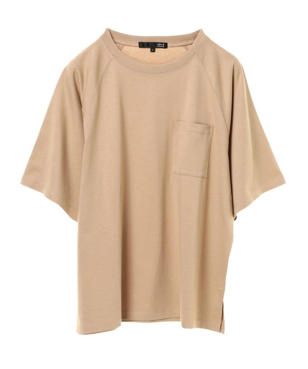 Green Parks ・ポケット付5分袖ワイドラグランTシャツ Beige