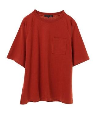 Green Parks ・ポケット付5分袖ワイドラグランTシャツ Orange