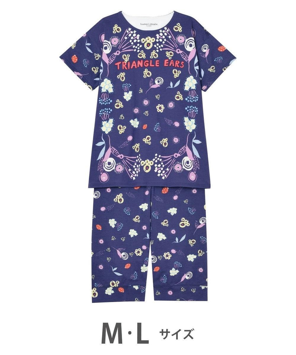 tsumori chisato SLEEP お花と肉球 5分袖7分丈パンツ パジャマ/ワコール UDP664 コン