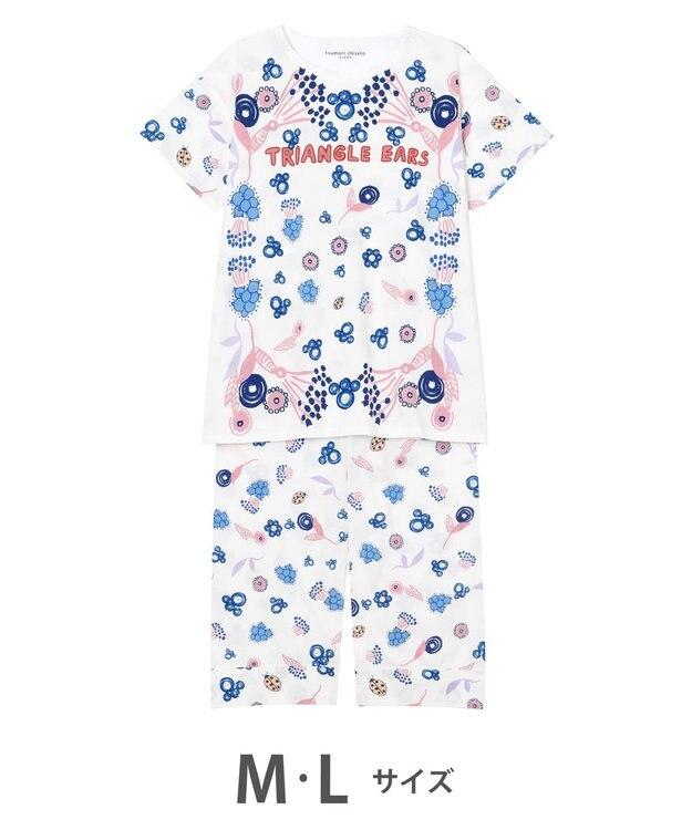 tsumori chisato SLEEP お花と肉球 5分袖7分丈パンツ パジャマ/ワコール UDP664