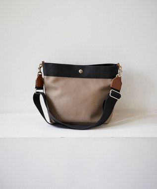 TOPKAPI [トプカピ ブレス] リプルネオレザーショルダーバッグ カーキブラウン