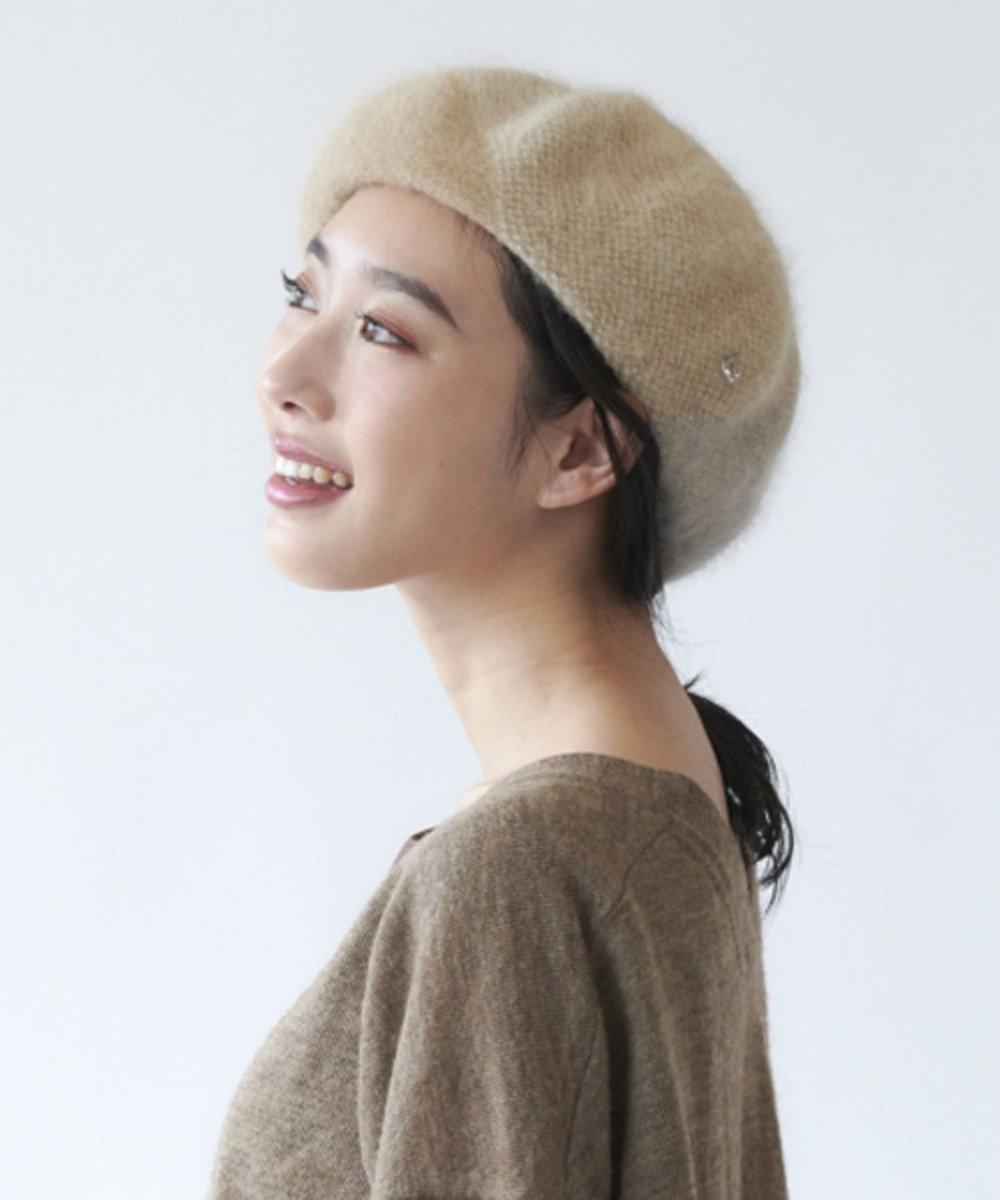 Hat Homes 【レディース】竹内海南江 3カラーアンゴラベレー ベージュ