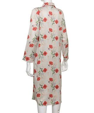 Chut! INTIMATES 【パジャマ・ルームウェア】 コットンサテン パジャマ ドレス [BMコラボ] (C282) ベージュ系プリント